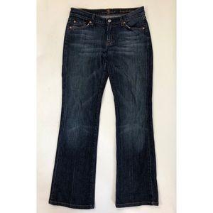 7 FAM Jeans Size 29 Blue Denim Long Bootcut